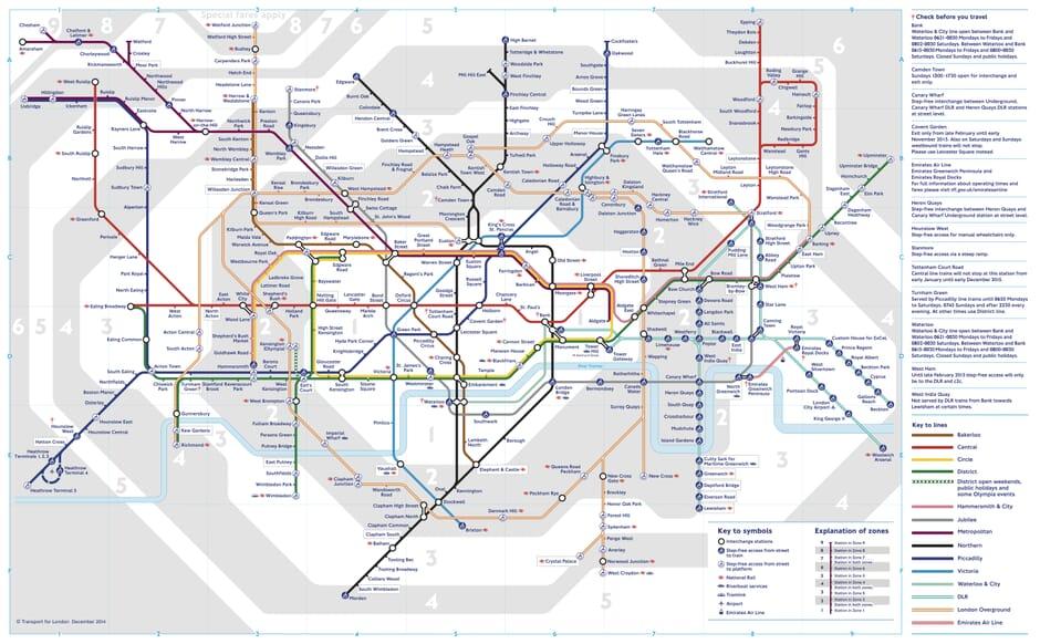 Maps Update 16001069 London Tube Underground Map BBC London – Underground Tube London Map